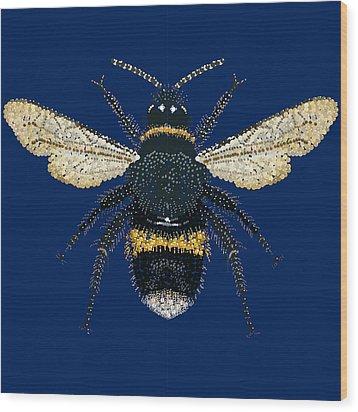 Bumblebee Bedazzled Wood Print