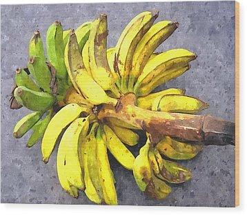 Bunch Of Banana Wood Print by Lanjee Chee