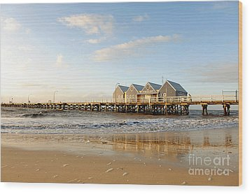 Busselton Jetty Wood Print by Yew Kwang