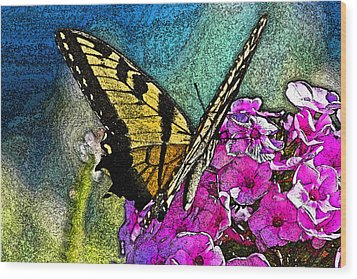 Butterfly Wood Print by Andy Lawless