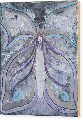 Butterfly Goddess Wood Print by Judy M Watts-Rohanna