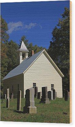 Cades Cove Primitive Baptist Church Wood Print by Dan Sproul