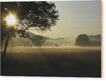 Cades Cove Sunrise II Wood Print by Douglas Stucky