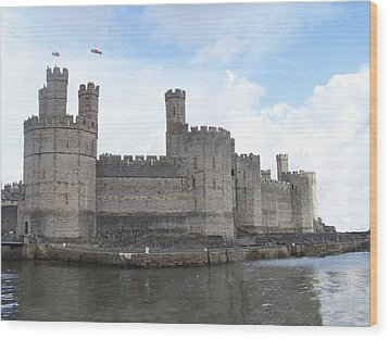 Wood Print featuring the photograph Caernarfon Castle by Christopher Rowlands