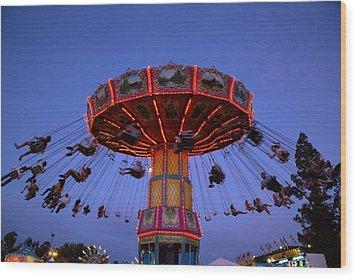 California State Fair In Sacramento Wood Print by Carol M Highsmith