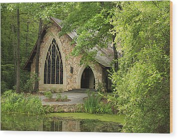 Wood Print featuring the photograph Callaway Gardens Chapel - Pine Mountain Georgia by Mountains to the Sea Photo