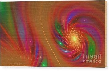 Wood Print featuring the digital art Candy Nebula by Hanza Turgul