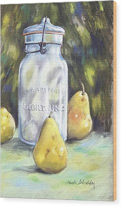 Canned Pears  Wood Print by Claude Schneider