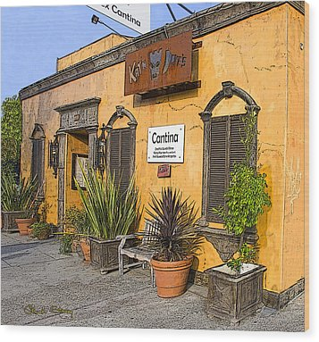 Cantina Wood Print by Chuck Staley
