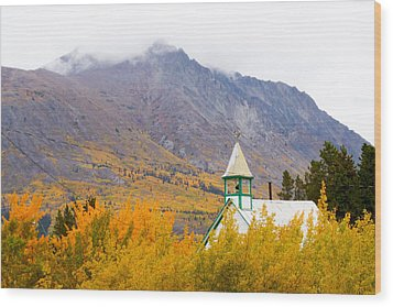 Carcross Church Wood Print