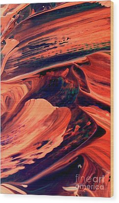 Wood Print featuring the painting Catalyst by Jacqueline McReynolds
