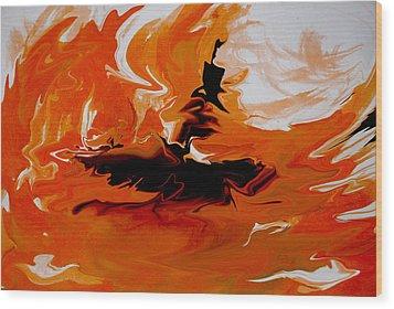 Caught In The Storm Wood Print by Indira Mukherji