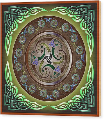 Celtic Pattern Wood Print