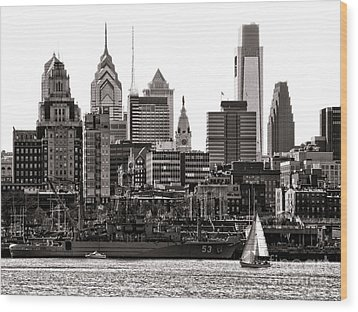 Center City Philadelphia Wood Print