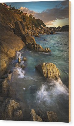 Chanteiro Beach Galicia Spain Wood Print by Pablo Avanzini