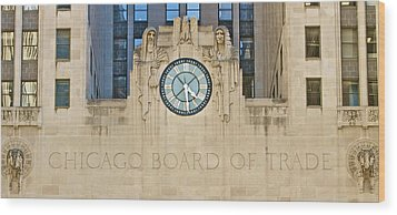 Chicago Board Of Trade Wood Print by John Babis