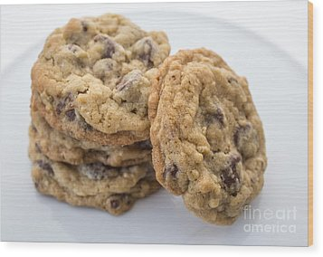 Chocolate Chip Cookies Wood Print by Edward Fielding