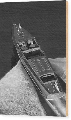 Chris Craft Aerial Wood Print by Steven Lapkin