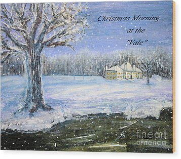 Wood Print featuring the painting Christmas At The Vale by Rita Brown