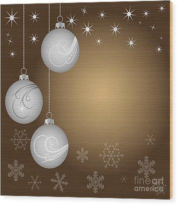 Christmas Background Wood Print by Michal Boubin