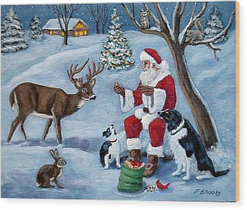 Wood Print featuring the painting Christmas Treats by Fran Brooks