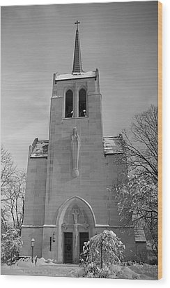 Church Wood Print by Thomas Fouch