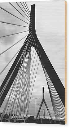 city of Boston Wood Print by Rose Wang