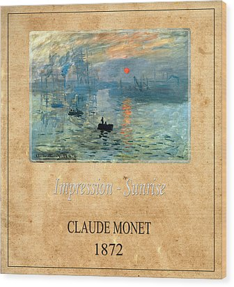 Claude Monet 2 Wood Print by Andrew Fare