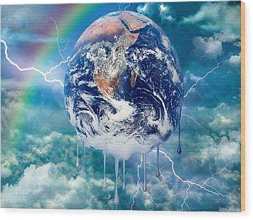 Climate Change Wood Print