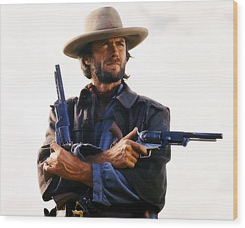 Clint Eastwood In The Outlaw Josey Wales  Wood Print by Silver Screen