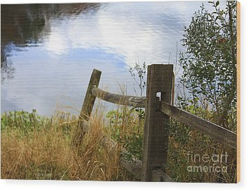 Cloud Reflections Wood Print by Deborah Benoit