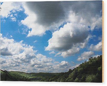 Clouds Wood Print by Optical Playground By MP Ray