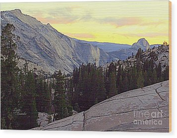 Cloud's Rest And Half Dome Wood Print by Lynn Bawden