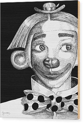 Clown Of Joy Wood Print