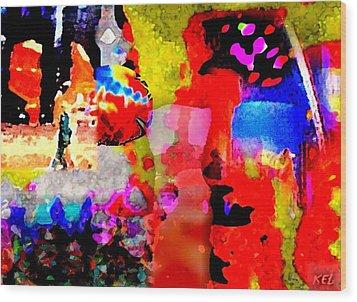 Colorful Wood Print by Kelly McManus