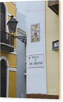 Colorful Old San Juan Wood Print by Birgit Tyrrell