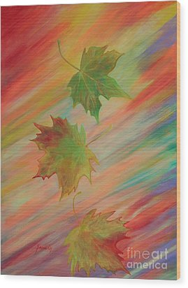 Colours Of Autumn. Inspirations Collection. Wood Print