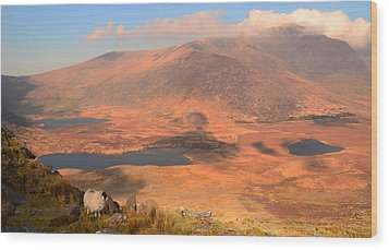 Connor Pass Wood Print by Barbara Walsh