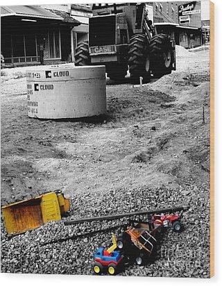 Construction Site Wood Print by   Joe Beasley