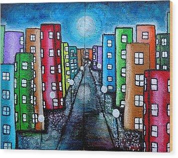 Contemporary City Wood Print