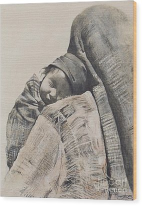 Contentment Wood Print by Terri Ana Stokes