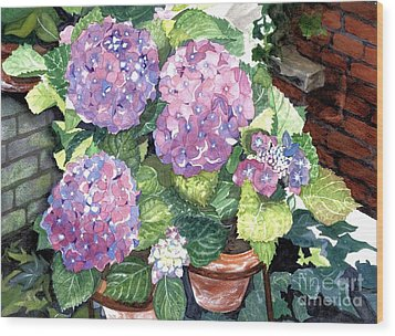 Corner Garden Wood Print by Barbara Jewell