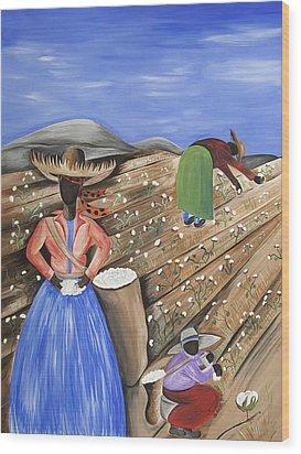Cotton Pickin' Cotton Wood Print by Patricia Sabree