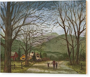 Country Lane  Wood Print by Tim Oliver