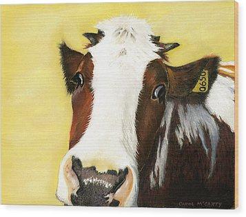 Cow No. 0650 Wood Print