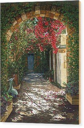 Crimson Canopy Wood Print by Doug Kreuger