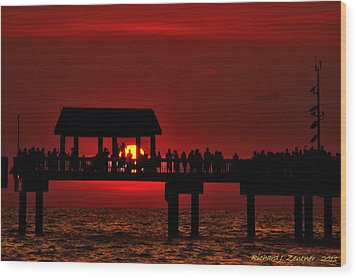 Wood Print featuring the photograph Crimson Sunset by Richard Zentner