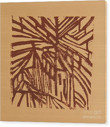 Cross Way Wood Print by Christiane Schulze Art And Photography