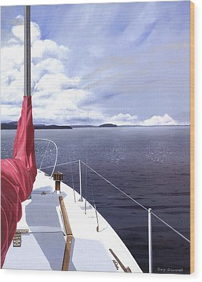 Wood Print featuring the painting Cruising North by Gary Giacomelli