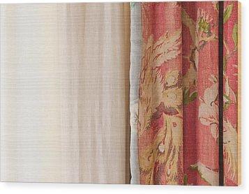 Curtains Wood Print by Tom Gowanlock